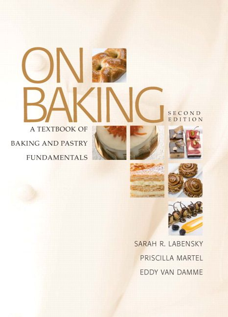 """On Baking: A Textbook of Baking and Pastry Fundamentals - It teaches both the """"hows"""" and """"whys,"""" starting with general procedures, highlighting core principles and skills, and then presenting many applications and sample recipes. Professionalism, breads, desserts and pastries, and advanced pastry work are each covered in detail, and baking and pastry arts are presented in cultural and historical context throughout."""