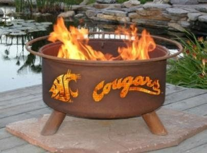 Patina Products F216,  30 Inch Washington State Cougars Fire Pit by Patina. $249.99. Officially Licensed Product. Wire mesh lines the inside of the firepit to prevent sparks and embers escaping through the cutout design. Natural rust patina finish ages beautifully over time. Comes fully assembled for immediate use. Five-year warranty: Fire pits guaranteed not to burn through or rust through for five years.. Get fired up with the Washington State Cougars Fire Pit. A...