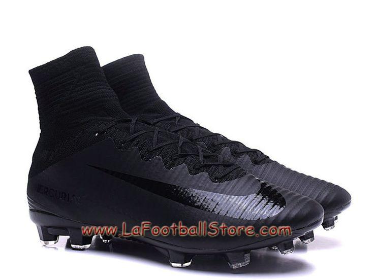 Nike Mercurial Superfly V FG Pas cher  Chaussure de football à crampons pour terrain sec pour Homme Black - 831940_ID2 - Boutique Chaussures De Foot | Maillot de Foot | LaFootballstore.com