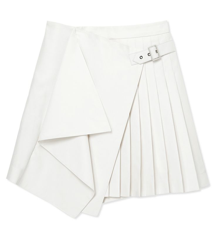 Salvatore Ferragamo White Pleated Skirt - Shop more ways to wear a crop top this summer: http://www.harpersbazaar.com/fashion/fashion-articles/how-to-wear-a-crop-top
