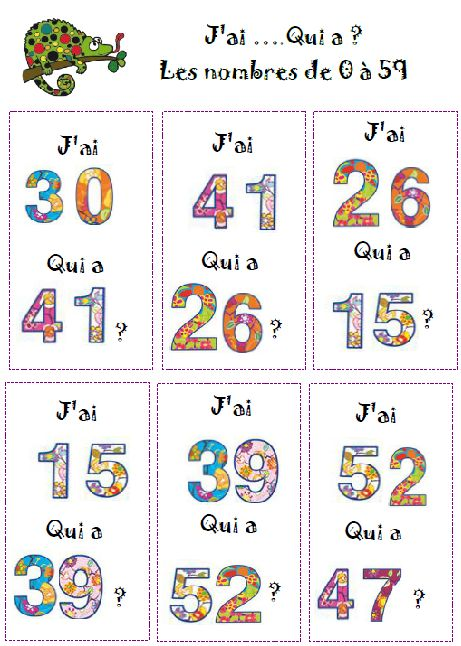 atelier lecture de nombres J'ai ....qui a ? http://lavieenclasse.eklablog.com/atelier-lecture-nombres-cp-a109063742