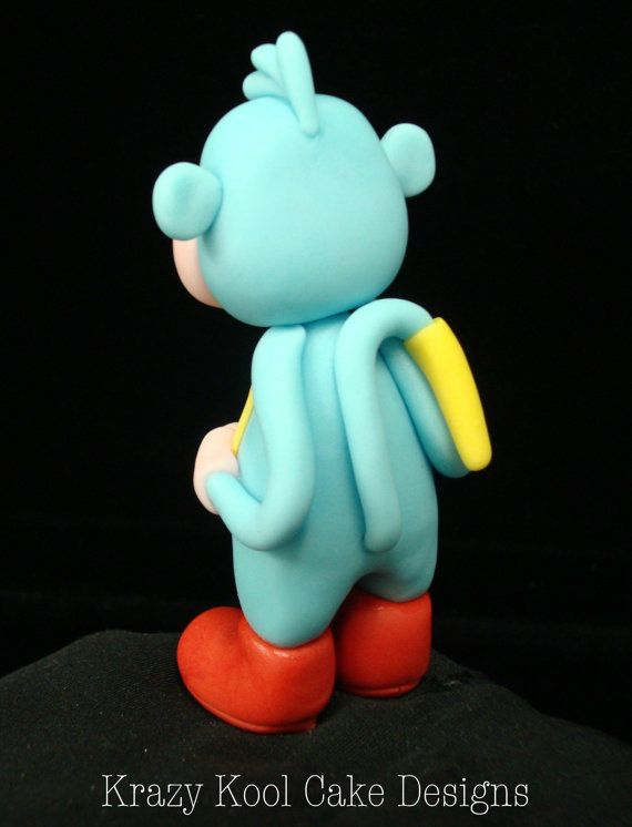 Boots From Dora The Explorer Cake Topper by KrazyKoolCakeDesigns