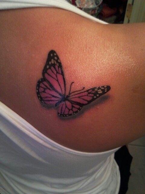 3D Monarch Tattoo | Tattoo Ideas | Pinterest
