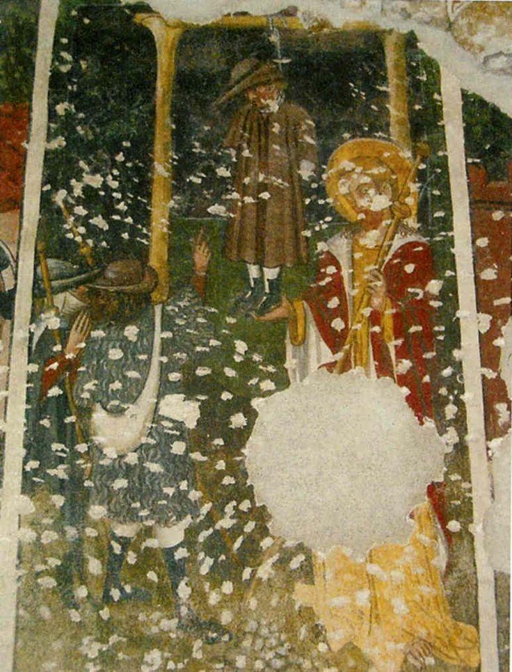 Il miracolo dell'impiccato. Niella Tanaro (CN) : Cappella di Sant'Anna