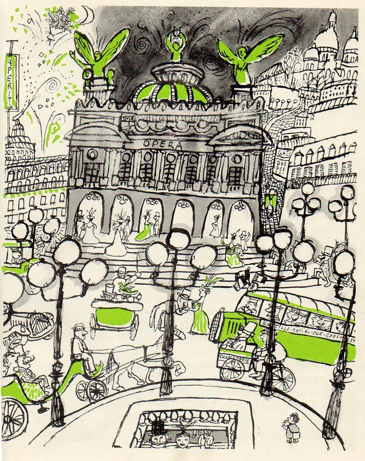 The Magic Currant Bun, de John Symonds, illustré par André François #illustration