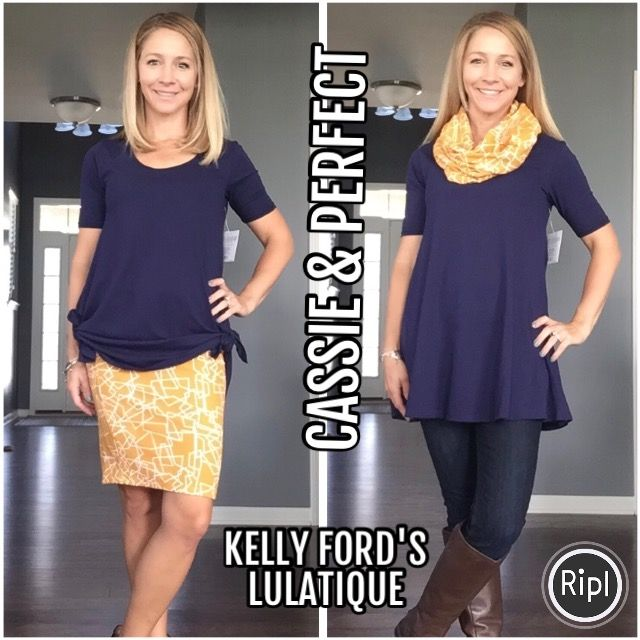 Cassie and Perfect Tee. 2 pieces, 2 ways - LuLaRoe
