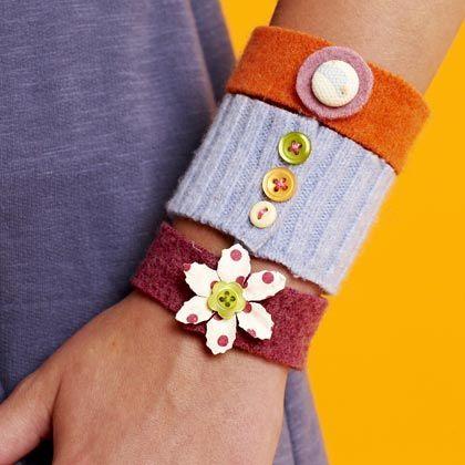 Off the cuff bracelet kids buttons sew