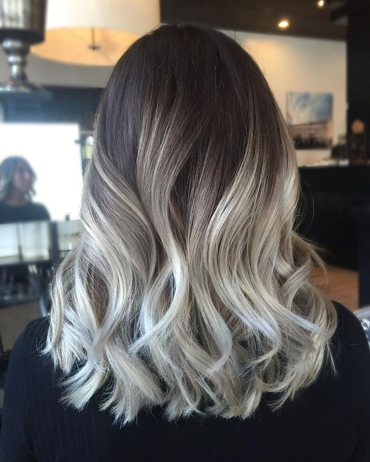 """▪️High contrast▫️ This pretty lady had a grown out ombré that I hadn't touched in about 8 months - and still looked good! We switched it up with a darker…"""