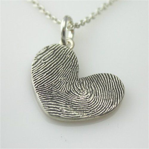 Finger print heart necklace..so sweet!:)