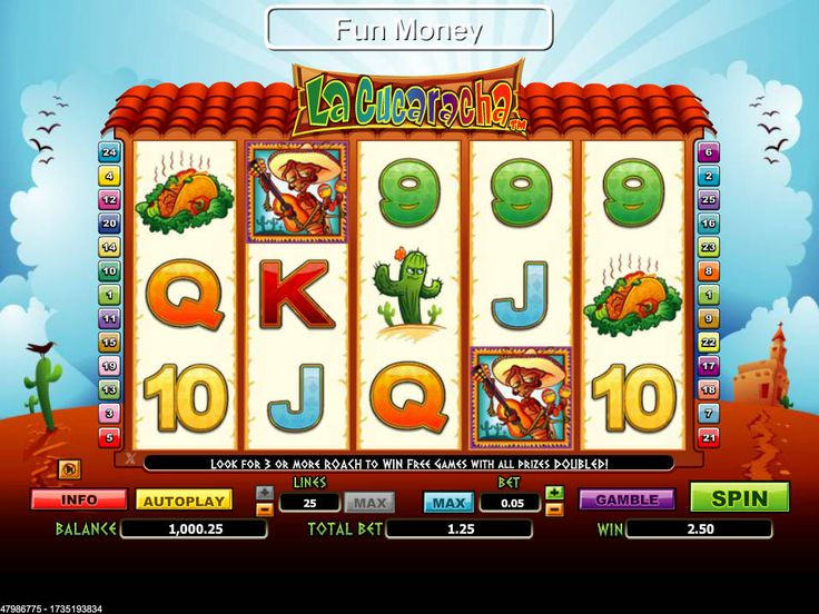 La Cucaracha - http://freeslots77.com/la-cucaracha/ - You might not have heard the traditional Spanish folk song Corrido, but if you play free La Curaracha online slot game, which has been designed with lovely Mexican graphics, you will definitely love this game. The slot will make you aware of the Mexican desert. Developed by WGS, the five-reel...