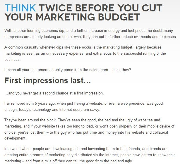 To read more -->  http://www.dsignhaus.co.za/site/index.php/blog/18-blog/129-think-twice-before-you-cut-your-marketing-budget
