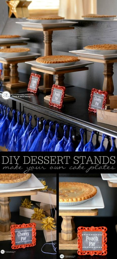 DIY Cake Plate Dessert Stand | make your own wooden dessert stands for your next #party table @michaelsstores #michaelsmakers
