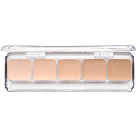 RCMA Makeup 5 Part Palettes are perfect if you're on the go! This palette contains 4 new shades from the KA Series that are very pale with a slight golden undertone. Included in the palette are KA-1, KA-2, KA-3, KA-4 and KO-2. This palette is for very pale to fair skin tones.  Color Process Foundation shade. RCMA Color Process Shades offer a high degree of coverage on the skin, without the need to use too much. So a little, goes a long way!  RCMA foundations do not contain perfumes, animal…