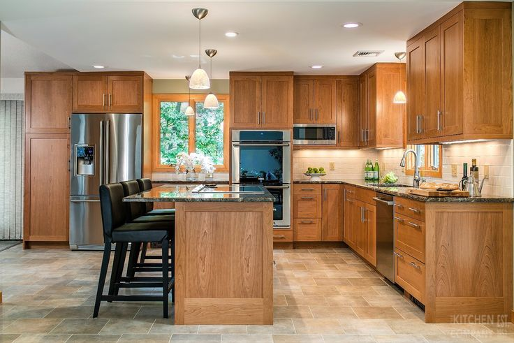 Custom Cherry Kitchen in Guilford, CT | Kitchen Remodeling Companies