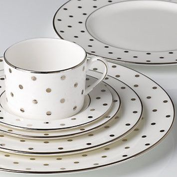 Larabee Road Platinum 5-piece Place Setting contemporary dinnerware