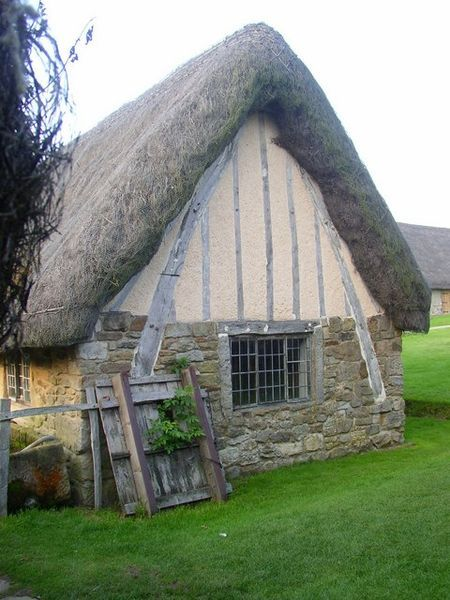 Cruck-frame, Ryedale Folk Museum, Hutton-le-Hole, North York Moors, Yorkshire