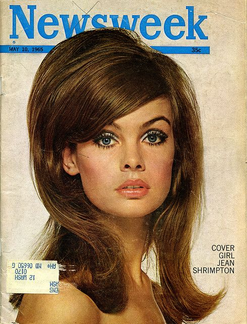 Vintage 1965 Newsweek with the 60s iconic covergirl Jean Shrimpton