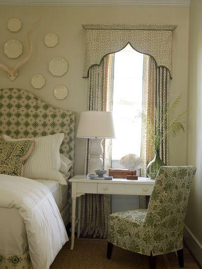 window treatment, slipcover & headboard...