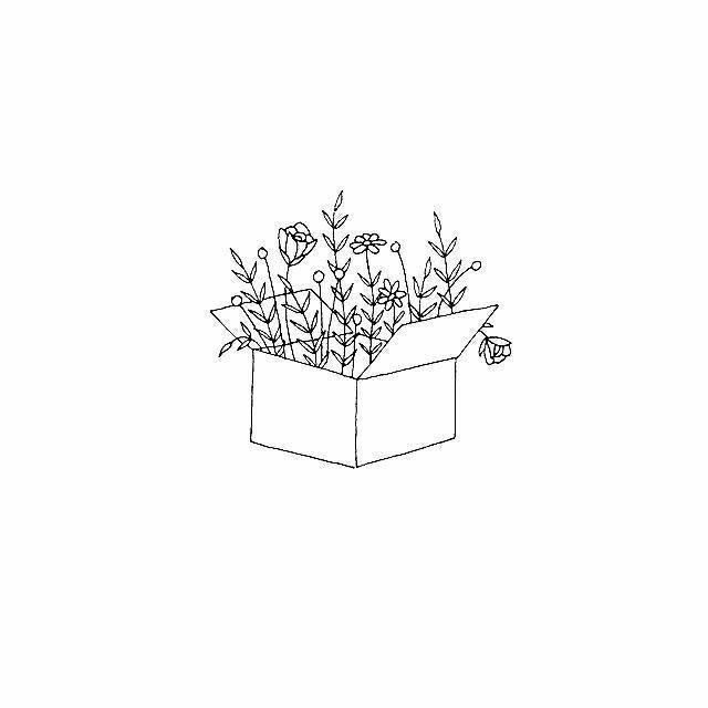 Minimalist Aesthetic Flower Line Drawing in 2020