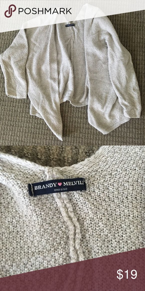 """Brandy Melville Cardigan Tan Brandy cardigan. """"One size"""" but on the smaller side Brandy Melville Sweaters Cardigans"""