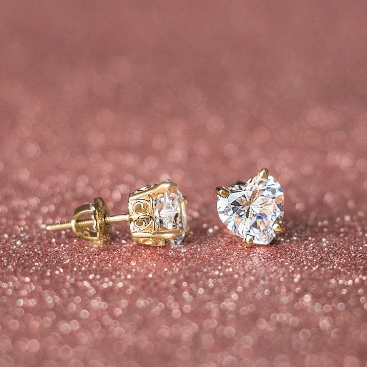 "2,154 Likes, 27 Comments - Diamond Nexus (@diamondnexus) on Instagram: ""So sweet! Heart cut stud earrings are way better than candy hearts for Valentine's Day. Pictured:…"""