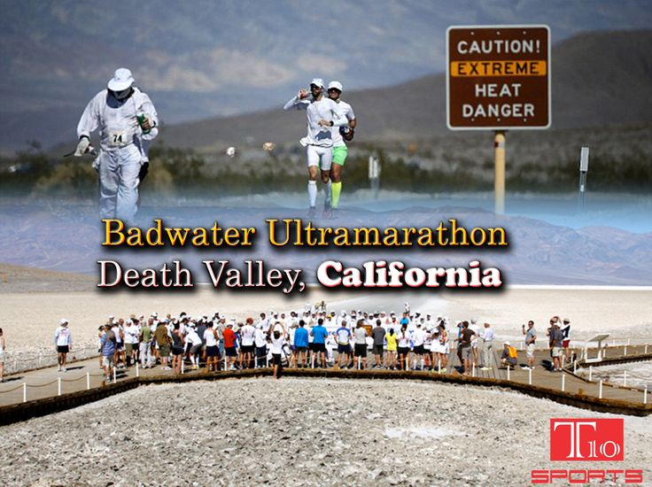 Badwater # ultramarathon - Death Valley, California This 217km course starts 86m