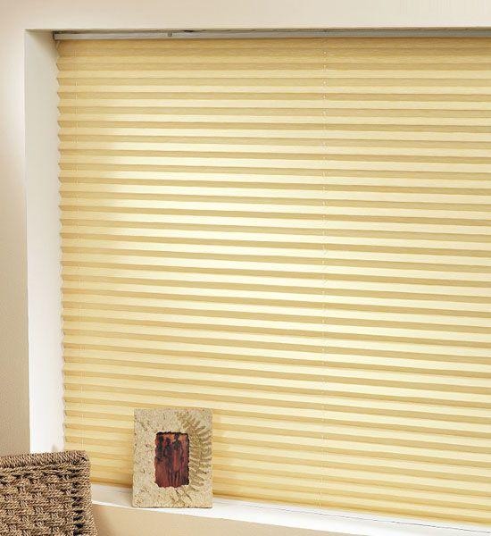 Pleated blinds look great and are easier to keep clean than the more traditional Venetian Blind and with no control cords