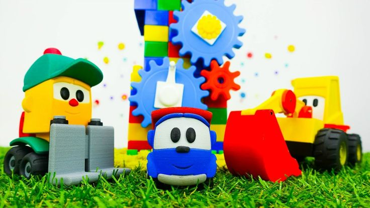 Конструктор, Игры для детей: Грузовичок Лева и Мася строят мельницу!