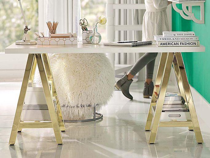 Customize-It Gold Study Desk