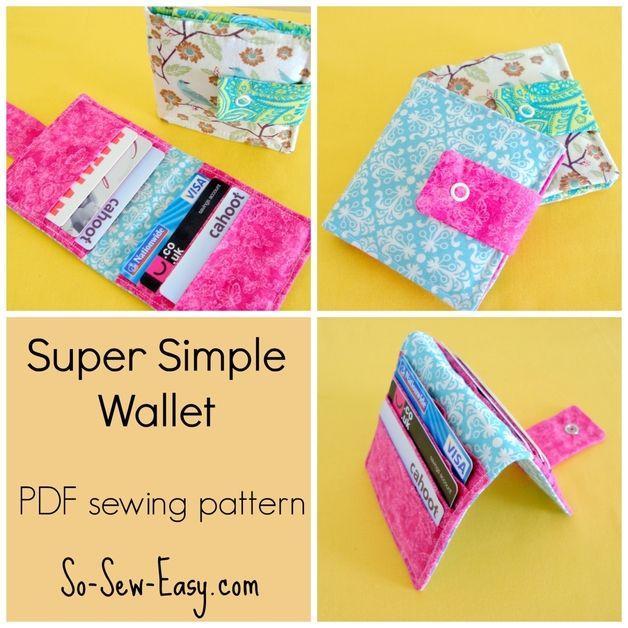 Tassen - naaipatroon portemonnee patroon PDF - Een uniek product van 3Dcraftsupplies op DaWanda