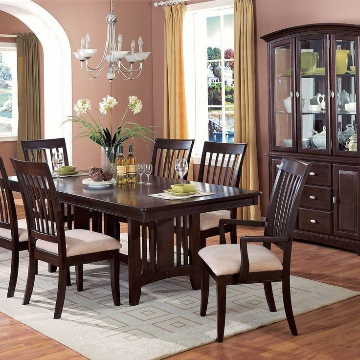 Black Wood Dining Room Table Beauteous Design Decoration