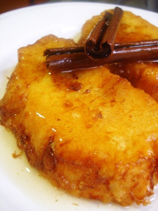 Torrijas de leche de coco y almíbar - El Aderezo - Blog de Recetas de Cocina