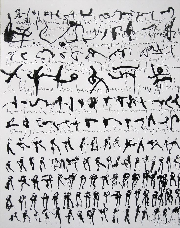 Gabriel Lalonde  À l'ombre des corbeaux  Encre sur papier  2012