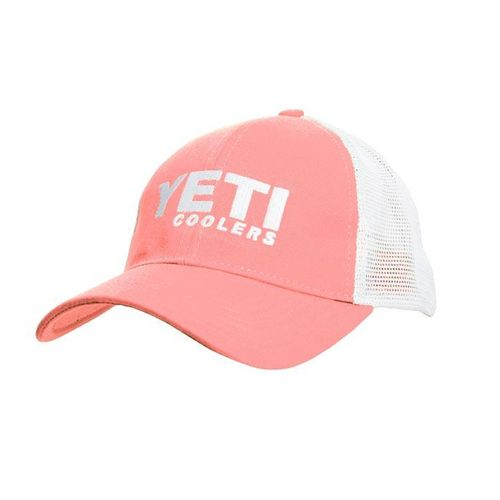 This cool hat by Yeti features a snug and sleek profile, mesh panel in back, pre curved visor and hook and loop closure in back,YHLPPINK,Durable cotton twill,Yeti logo on front,Weight:3.0 oz,,,