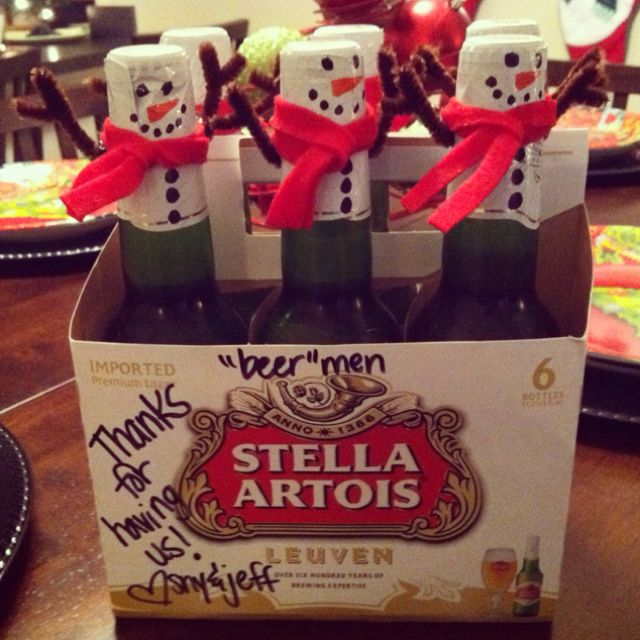 Christmas beer thirty. Clever thank u gift. Minimal effort. Marker pen and felt?