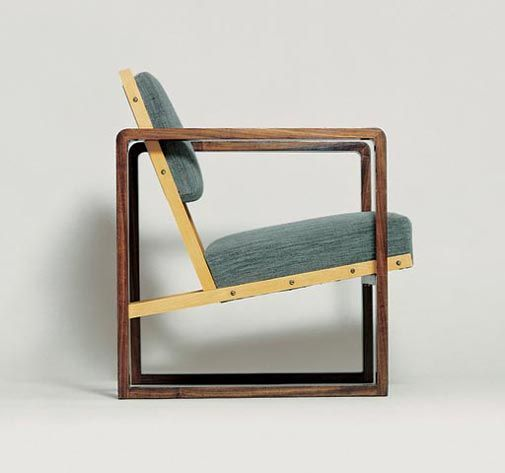 Josef Albers, Armchair for Hans Ludwig and Marguerite Oeser, Berlin, 1928.