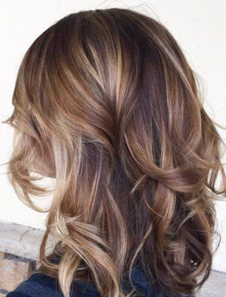60 Balayage Hair Color Ideas with Blonde, Brown, Caramel and Red Highlights (Chocolate Hair With Caramel Highlights)