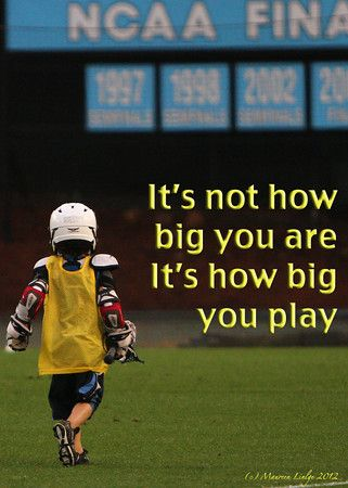 #motivational inspirational sports play I was the small soccer player, but used