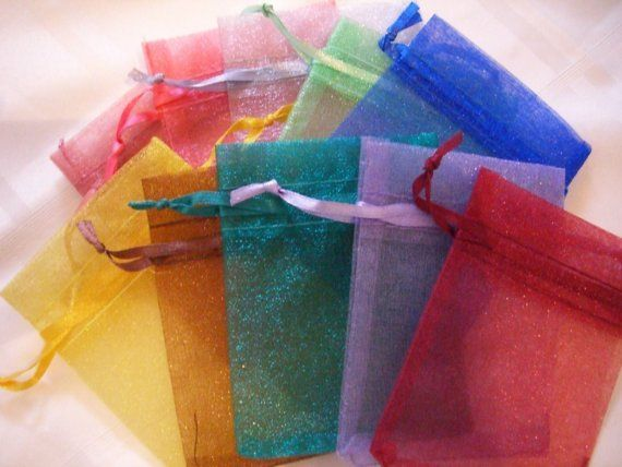 30 Organza Gift bags 3 in x 4 in Different by WillowRunCrafts, $5.75