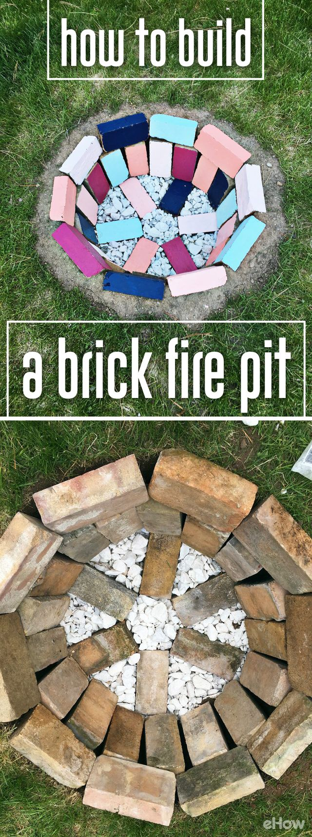 DIY a brick fire pit in your backyard safely and available  for cool night making s'mores and sipping drinks! http://www.ehow.com/how_5017121_make-fire-pit-out-bricks.html?utm_source=pinterest.com&utm_medium=referral&utm_content=freestyle&utm_campaign=fanpage
