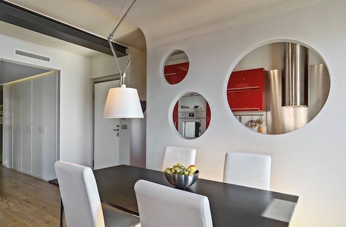 Separation Cuisine Salon Coulissez Une Porte Ouverte