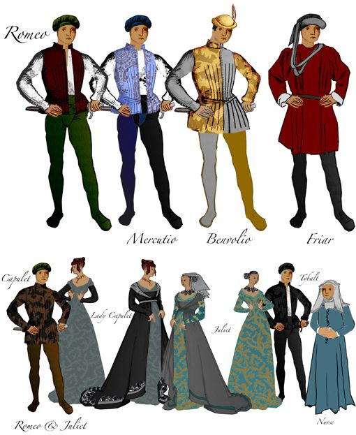 Elizabethan Costumes For Romeo And Juliet | Romeo and ...