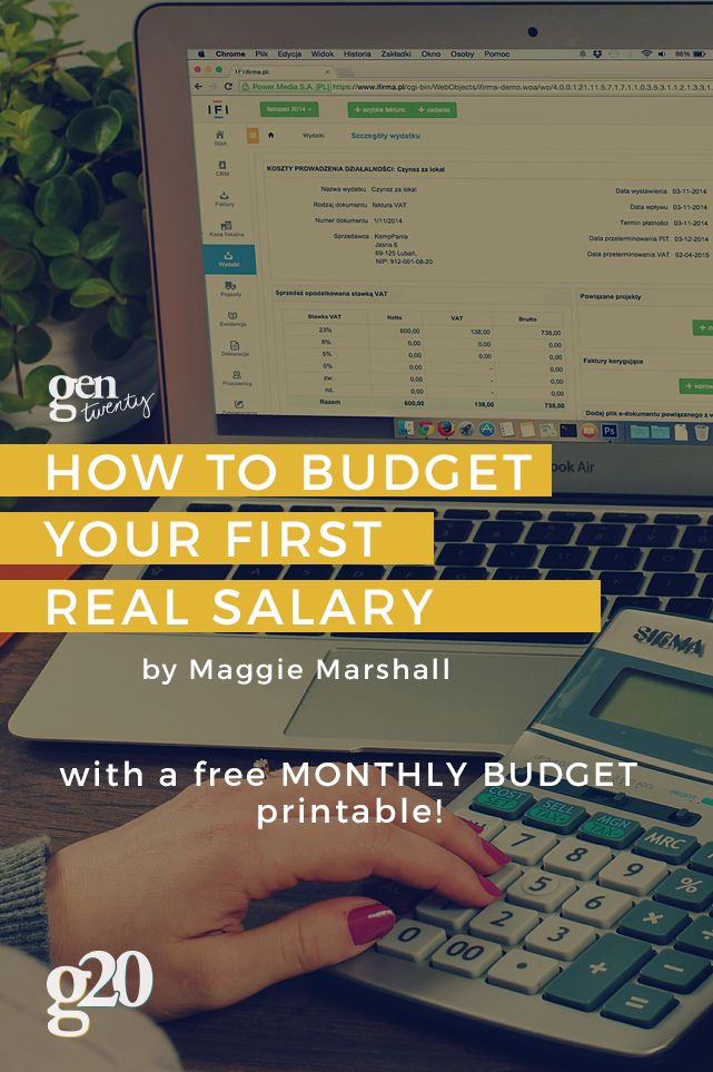 As young professionals, the time to budget your first real salary has come. But how, you wonder. Get the Monthly Budget printable to make it easy.