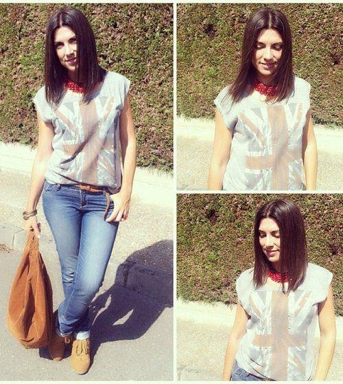 isasaweis outfit 1 , Shana en Camisetas, Primark en Jeans, Shana en Botines, Shana en Bolsos