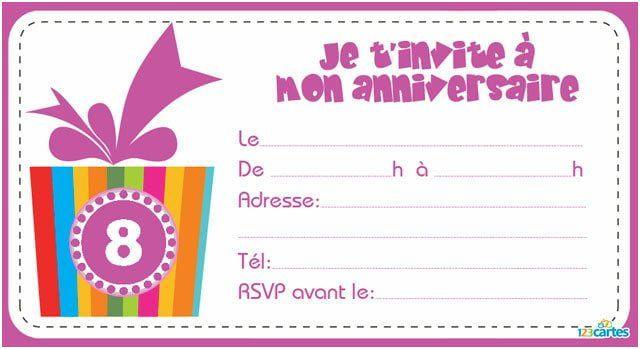 invitation anniversaire 10 ans fille