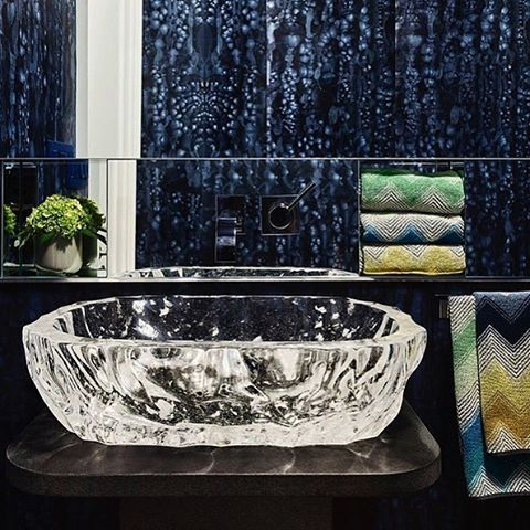 "57 Likes, 2 Comments - Robert Kuo (@robertkuoltd) on Instagram: ""Our Custom Bamboo Shaven Crystal Basin for @rlaxerinteriors as seen here in a powder room design by…"""