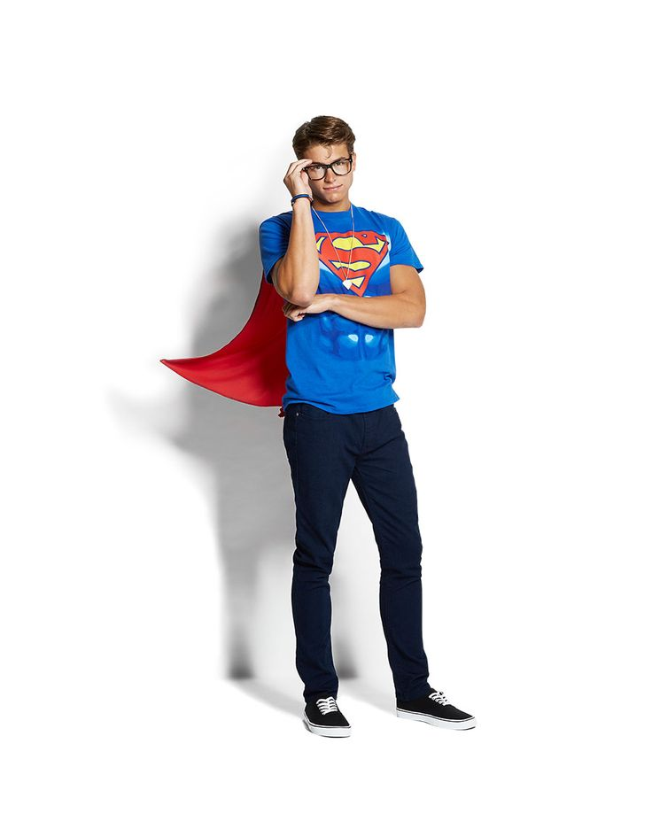 #Superman Halloween Costume for the men!! Loving this simple costume! Come check out Rue21 here at the #outletsatvicksburg