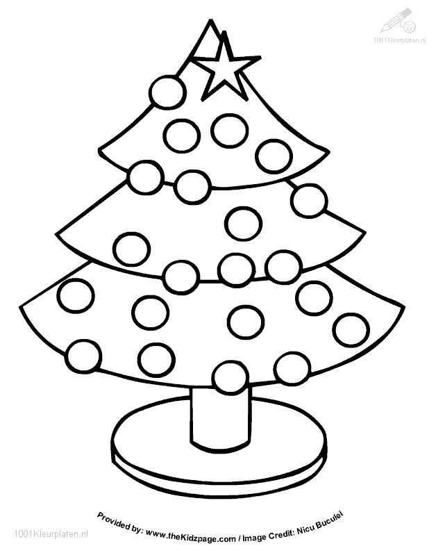 Little Christmas Tree Coloring For Kids