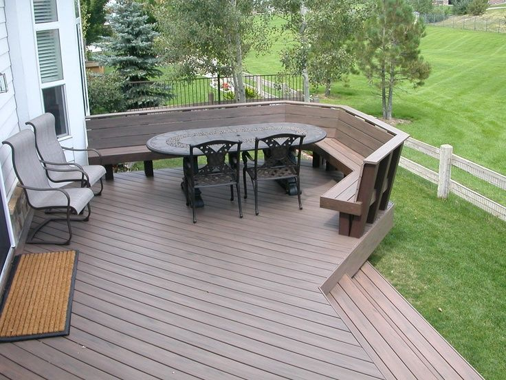 Trex Deck Benches Trex Deck With Benches Instead Of Railing For The Home Pinterest Deck