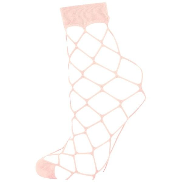 Topshop Oversized Fishnet Ankle Socks ($2.62) ❤ liked on Polyvore featuring intimates, hosiery, socks, nude, ankle socks, short socks, tennis socks, fishnet hosiery and topshop socks